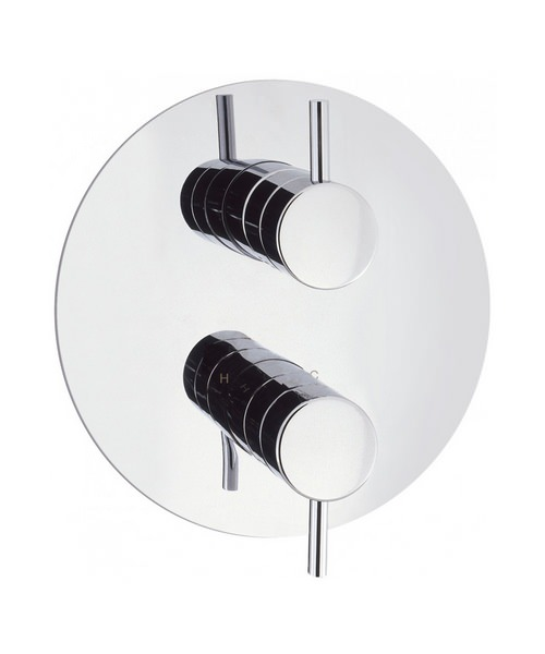 Crosswater Kai Lever Thermostatic Recessed Round Chrome Shower Valve