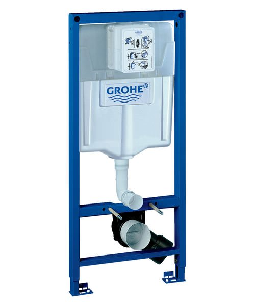 Grohe Rapid SL 1.13m High Wall Hung WC Frame And Cistern