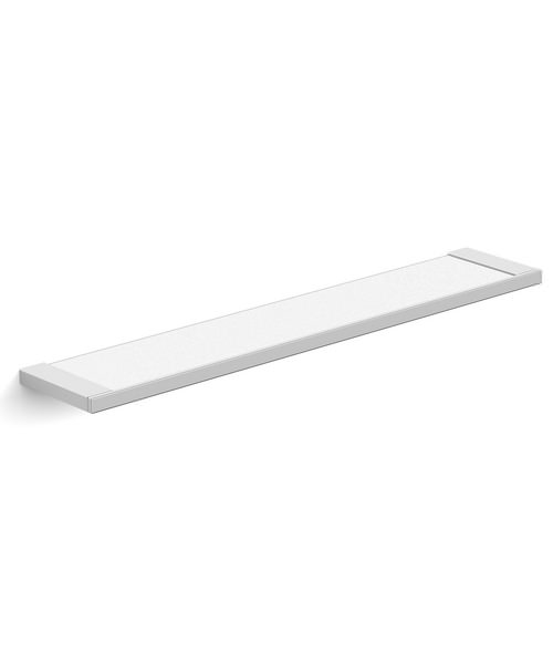 Essential Urban Square Wall Mounted Glass Shelf 60cm