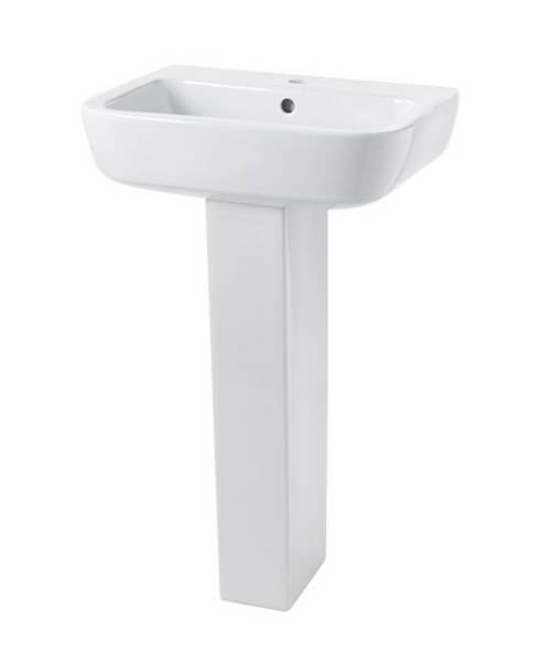 Essential Orchid 520mm White Basin With 1 Tap Hole