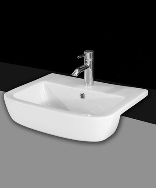Essential Orchid 520mm Semi Recessed Wash Basin