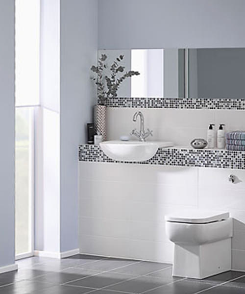 Essential Orchid White Cloakroom Suite