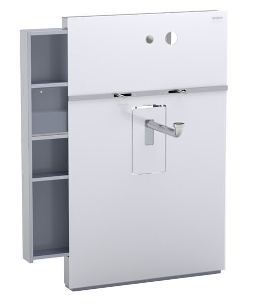 Geberit White Monolith Sanitary Module With Left Drawer For Washbasin