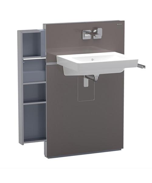 Geberit Umbra Monolith Sanitary Module With Left Drawer For Washbasin