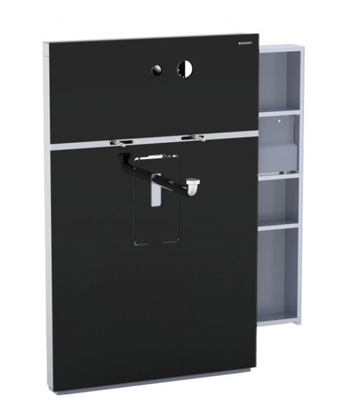 Geberit Black Monolith Sanitary Module With Right Drawer For Washbasin