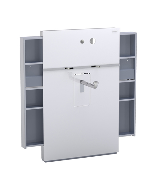 Geberit Umbra Monolith Sanitary Module With Left And Right Drawer For Basin