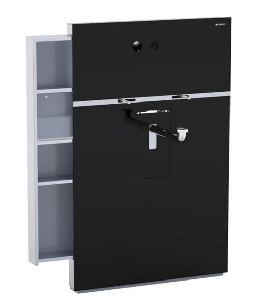 Geberit Black Monolith Sanitary Module With Drawer For Wall Hung Basin