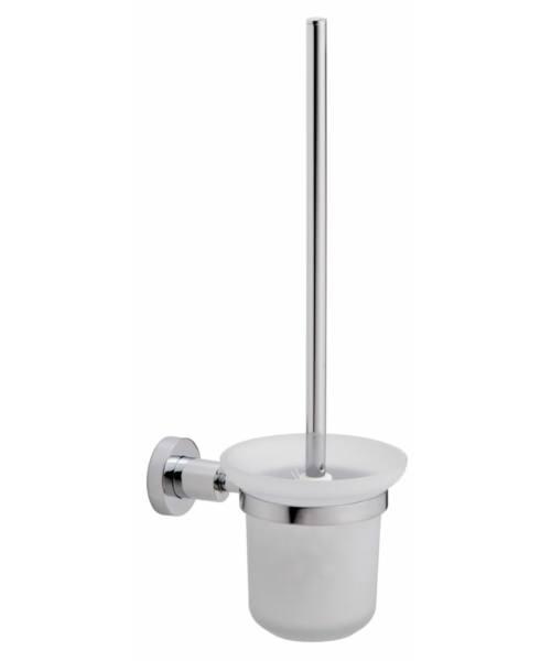 Red Dot Loxx Chrome Plated Toilet Brush Set