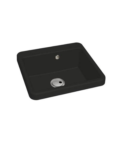 Abode Matrix GR10 Black Granite Single Bowl Kitchen Sink