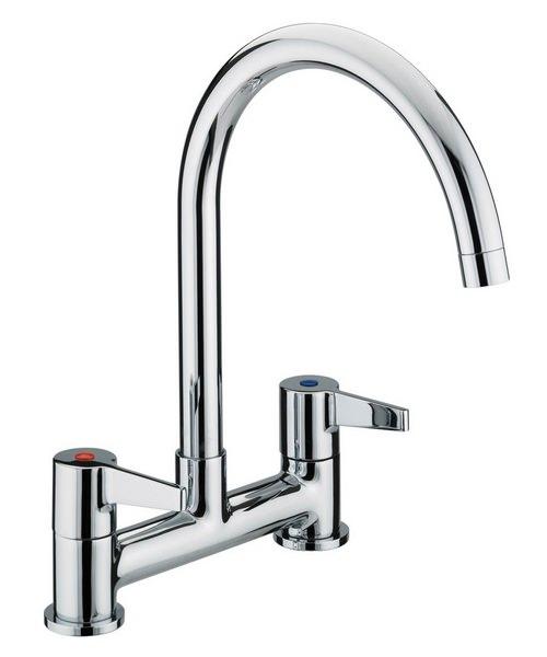 Bristan Design Utility Lever Kitchen Deck Mounted Sink Mixer Tap