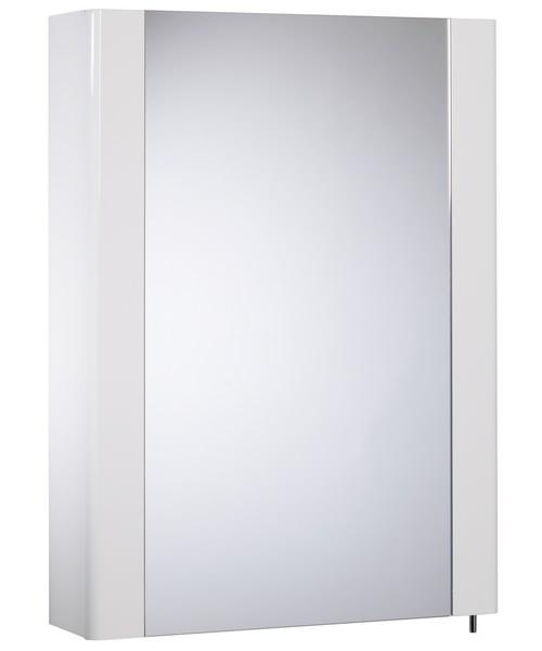 Tavistock Detail Single Mirror Door Cabinet White Gloss - W 475 x H 650mm