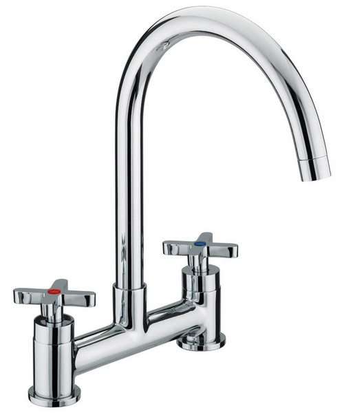 Bristan Design Utility X-Head Deck Mounted Kitchen Sink Mixer Tap