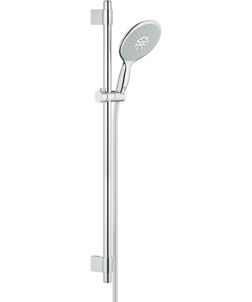 grohe spa power and soul 900mm slide rail with 160mm hand. Black Bedroom Furniture Sets. Home Design Ideas