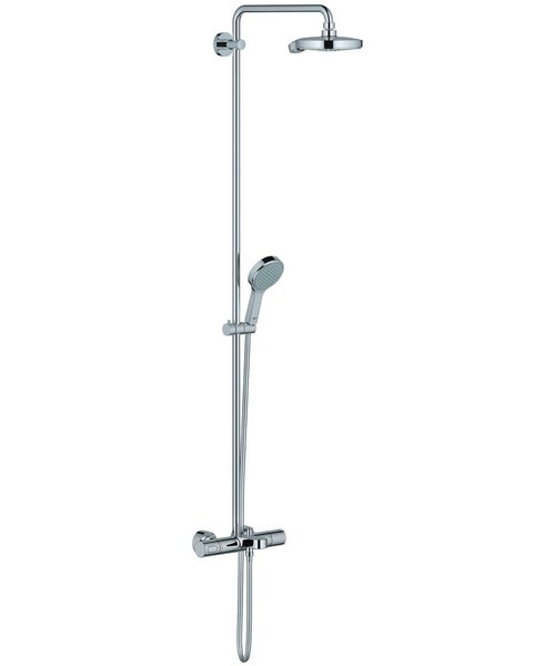 Grohe Spa Wall Mounted Power And Soul Cosmopolitan Shower System With Thermostat