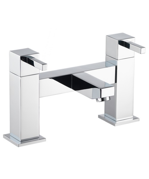 Pura Sq2 Deck Mounted Chrome Finish Bath Filler Tap