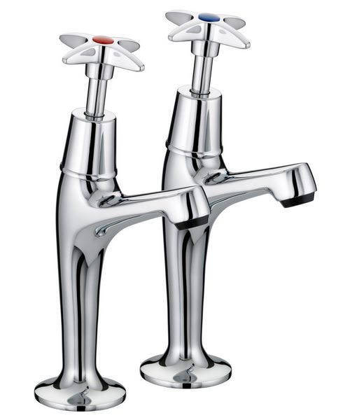 Bristan Value X-Head High Neck Pillar Kitchen Sink Taps