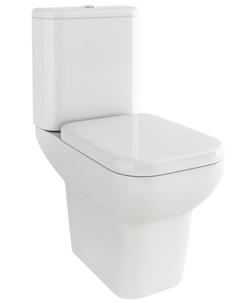 Pura Urban Close Coupled WC Pan With Cistern And Soft Close Seat 620mm