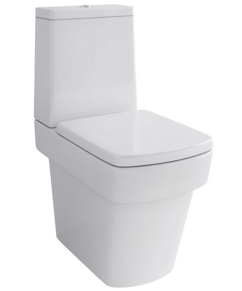 Pura Bloque Close Coupled WC Pan With Cistern And Soft Close Seat 630mm