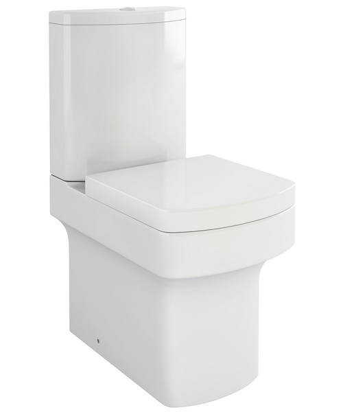 Pura Dekka Close Coupled WC Pan With Cistern And Soft Close Seat 610mm