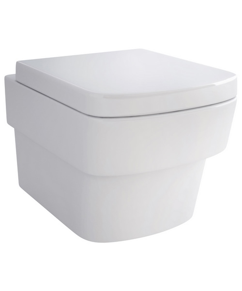 Pura Bloque Wall Hung WC Pan And Soft Close Seat 500mm