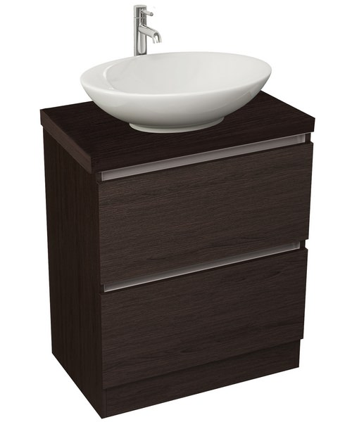Additional image of Pura Echo 600mm Floor Standing Double Drawer Unit And Worktop