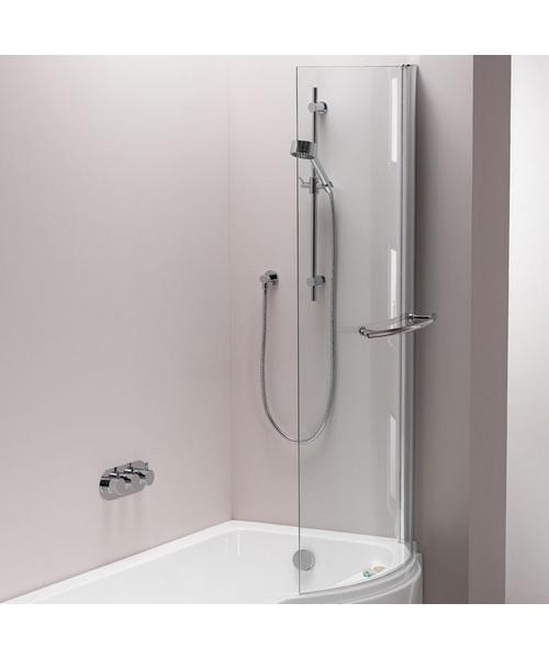Pura Arco 800 x 1500mm Left/Right Hand Hinged Shower Bath Screen