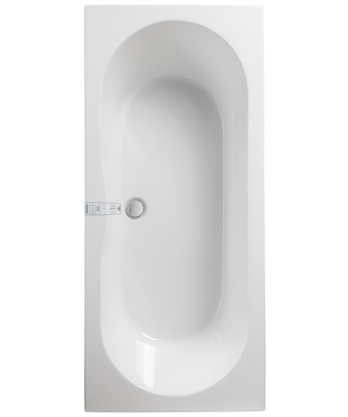 Pura Wave Eco 1700 x 750mm Double Ended Bath With Undrilled Overflow