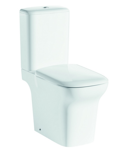 Pura Grace Open Back Close Coupled WC With Cistern And Soft Close Seat 650mm