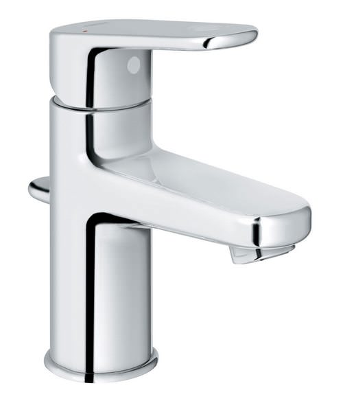 Grohe Europlus Monobloc Chrome Basin Mixer Tap With Metal Lever