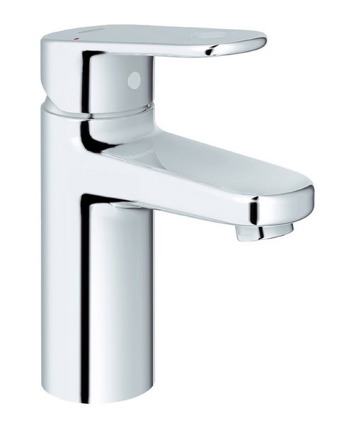 Grohe Europlus Smooth Body Monobloc Basin Mixer Tap With Metal Lever