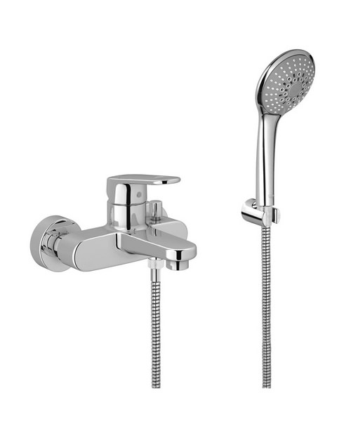 Grohe Europlus Wall Mounted Bath Shower Mixer Tap With Shower Kit