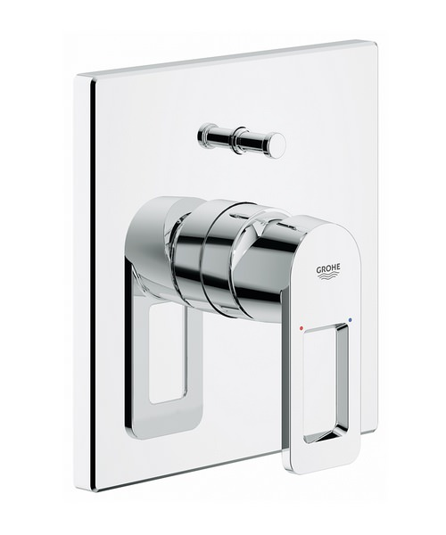 Grohe Quadra Single Lever Bath Shower Mixer Valve Trim And Diverter