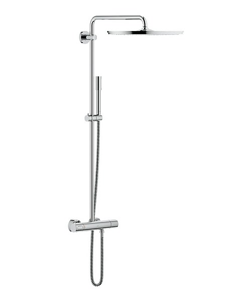Grohe Spa Rainshower Exposed Thermostatic Shower System With Jumbo Head