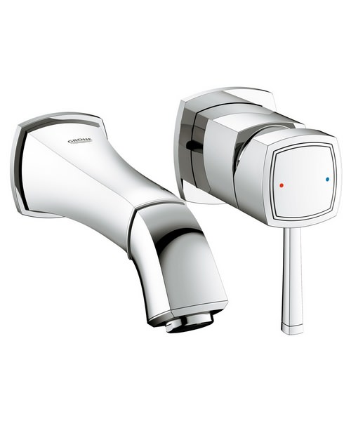 Grohe Spa Grandera Wall Mounted 2 Hole Basin Mixer Tap