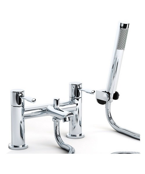 Beo Slip Deck Mounted Bath Shower Mixer Tap With Kit Chrome