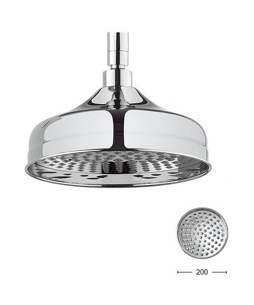 Crosswater Belgravia Chrome 200mm Fixed Shower Head