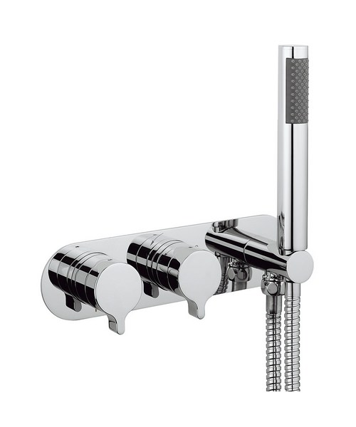 Crosswater Svelte Thermostatic Shower Valve With Handset
