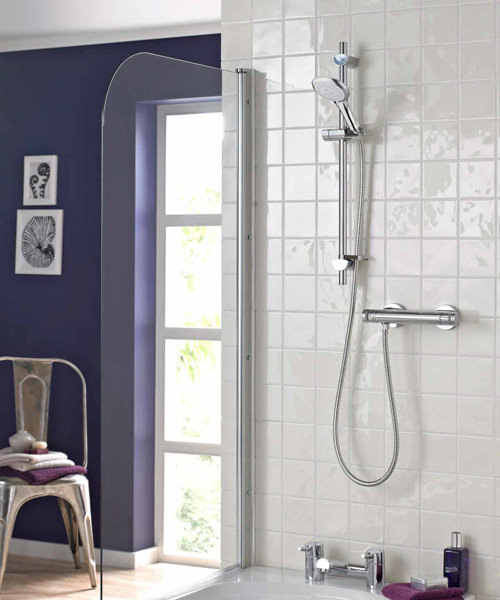 Bristan Artisan Thermostatic Bar Valve With Adjustable Riser Kit