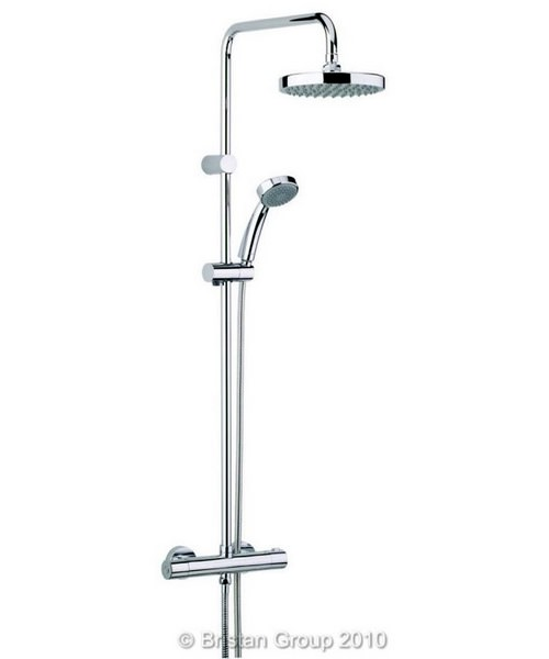 Bristan Carre Thermostatic Bar Shower Valve With Rigid Riser And Diverter