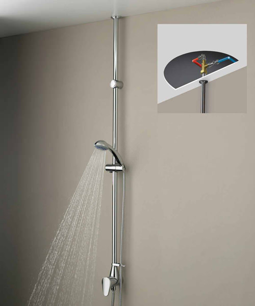 Bristan Jute Mini Twinline Thermostatic Shower Valve With Adjustable Riser
