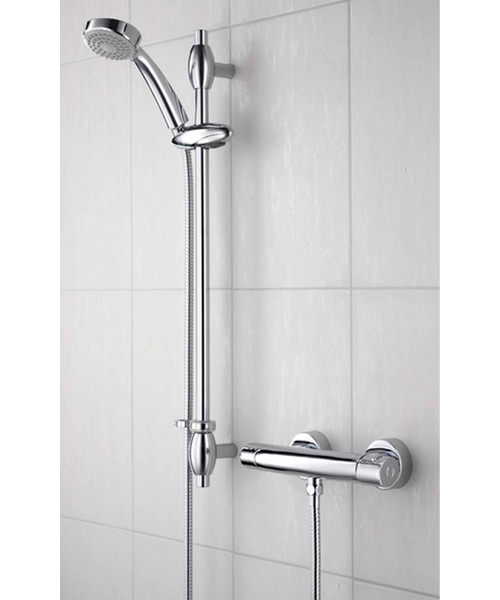 Bristan Oval Thermostatic Bar Shower Valve With Adjustable Riser