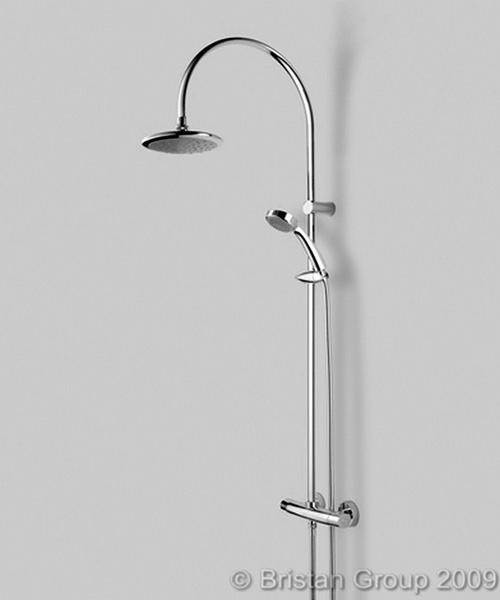 Bristan Oval Thermostatic Bar Shower Valve With Rigid Riser