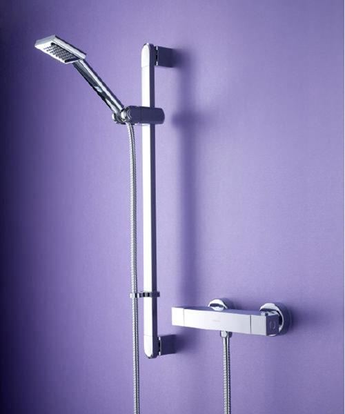 Bristan Quadrato Thermostatic Bar Shower Valve With Adjustable Riser