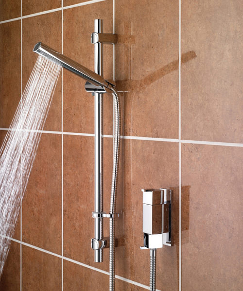 Bristan Qube Thermostatic Vertical Shower Valve With Adjustable Riser