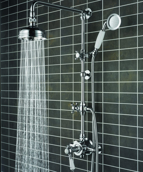 Cardinal Thermostatic Shower Valve With Rigid Riser And Diverter