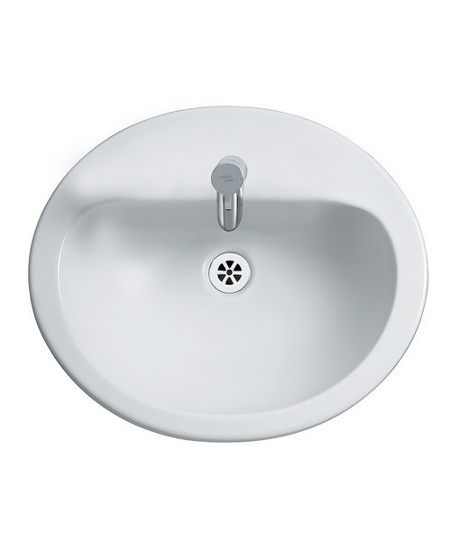 Kitchen Sink Realism: Orbit 21 Counter Top 550mm 1 Tap Hole Basin With Overflow