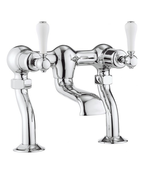 Crosswater Belgravia Lever Chrome Deck Mounted Bath Filler Tap