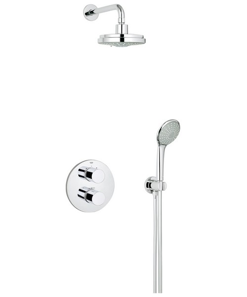 grohe grohtherm 3000 cosmopolitan perfect shower set. Black Bedroom Furniture Sets. Home Design Ideas