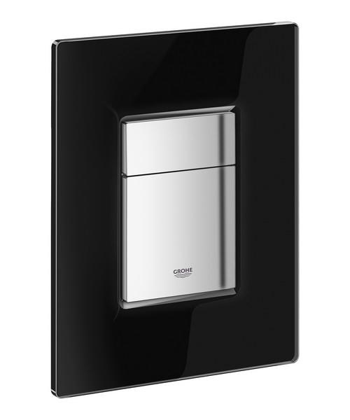 Grohe Skate Cosmopolitan Velvet Black Glass Flush Plate