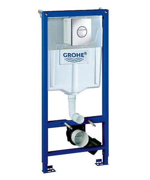 Grohe Rapid SL Nova 1.13m Wall Hung WC Frame And Cistern 3 In 1 Pack
